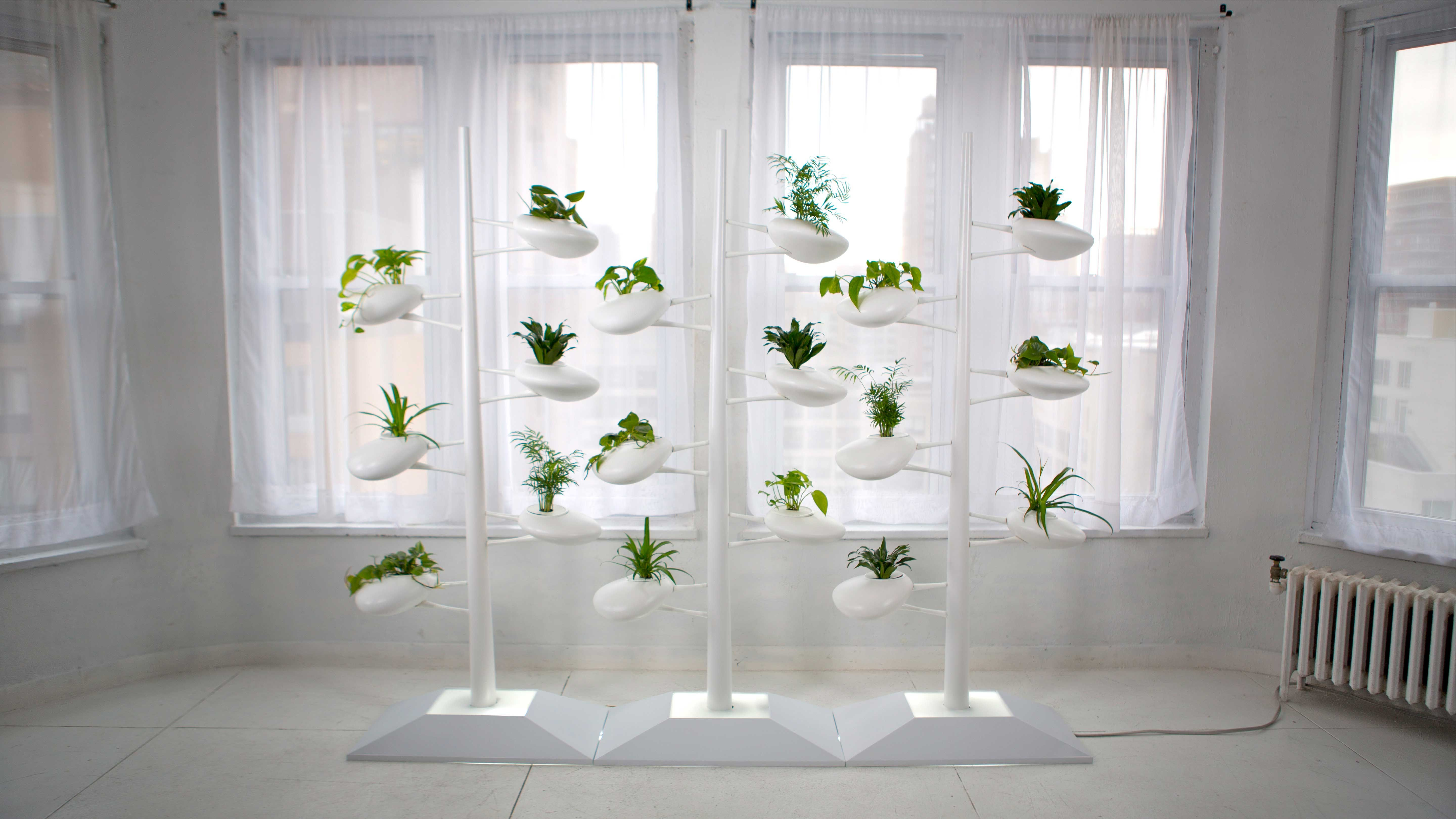 Hydroponic Planter Holders from Danielle Trofe Adding Green Accents to  Modern Interior Design-front