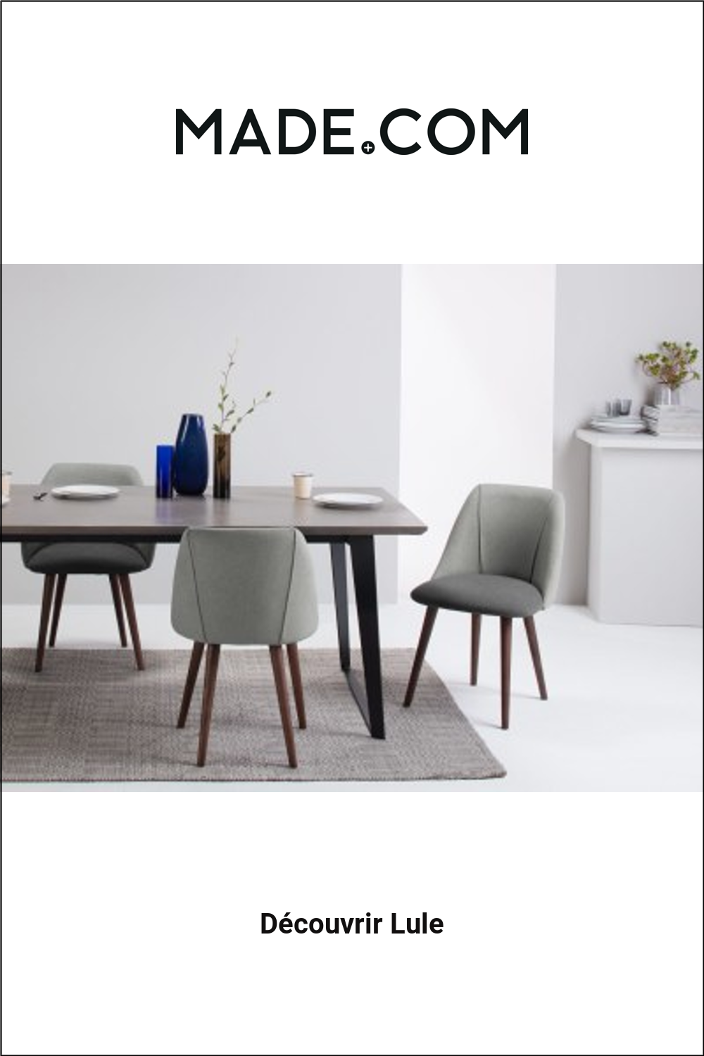 MADE.COM Chaises Salle À Manger Gris in 2020   Chair design