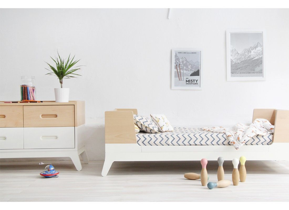 Nobodinoz: Online Store For Babies, Kids And Grownups. Single Bed Horizon  Moonlight White   Beds And Cribs   Furniture