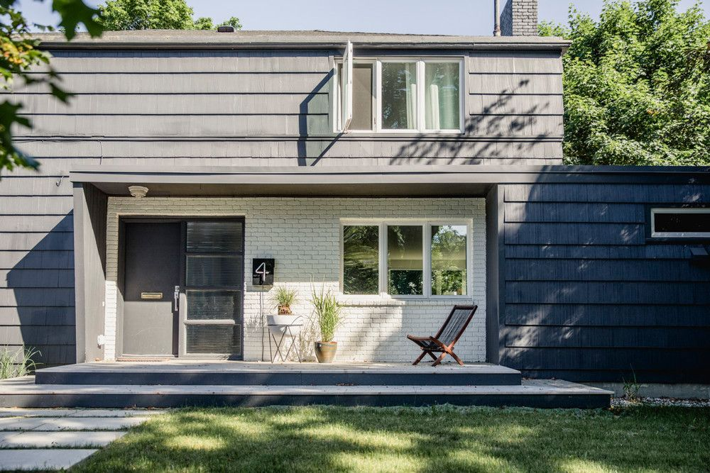 Tour A Midcentury Modern Maine Home Domino Cottage Exterior Beach House Exterior Beach Cottage Style