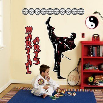 Martial Arts Boxing Judo Karate Kids Room Decor Wall Art Stickers Vinyl Decal
