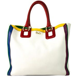 b960a6c75a Dolce & Gabbana D&G Lily Toy White Leather Carry All Large Tote Shopper