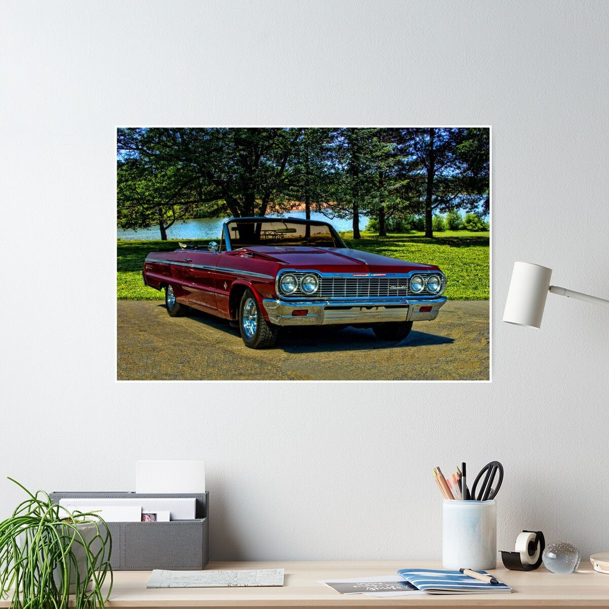 '1964 Chevrolet Impala Convertible' Poster by TeeMack