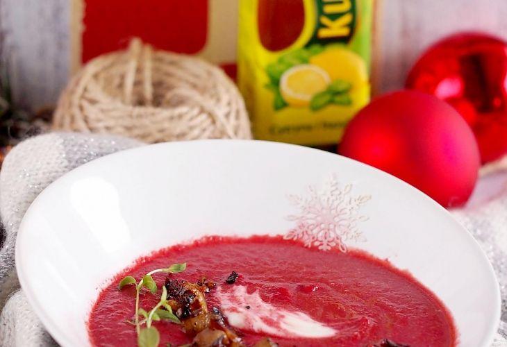 Zupa z pieczonych buraków z gruszką i imbirem - Przepis - Fooder.pl - Twoje wszystkie ulubione przepisy w jednym miejscu!