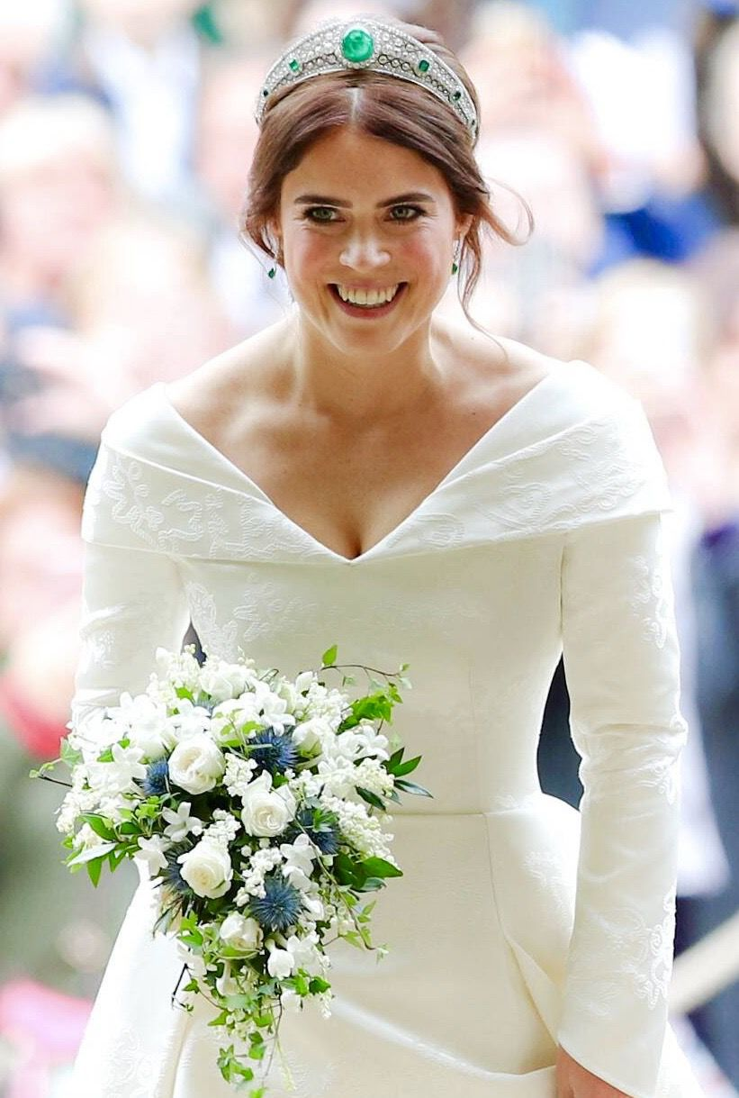Princess Eugenie of York arriving at St Chapel