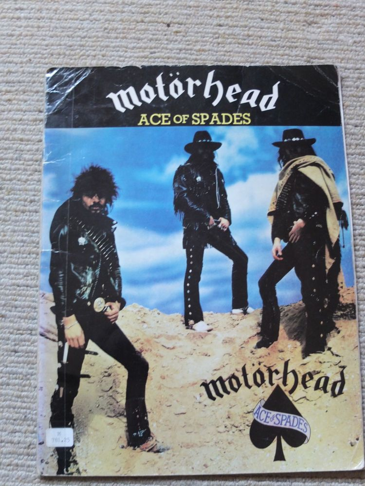 MOTORHEAD Ace of Spades Guitar Music Chords book in Musical