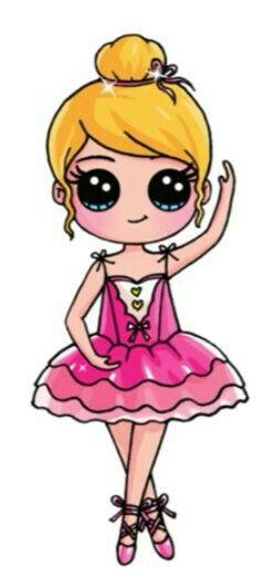 Ballerina By Draw So Cute My Favorites Pinterest Dessin Kawaii