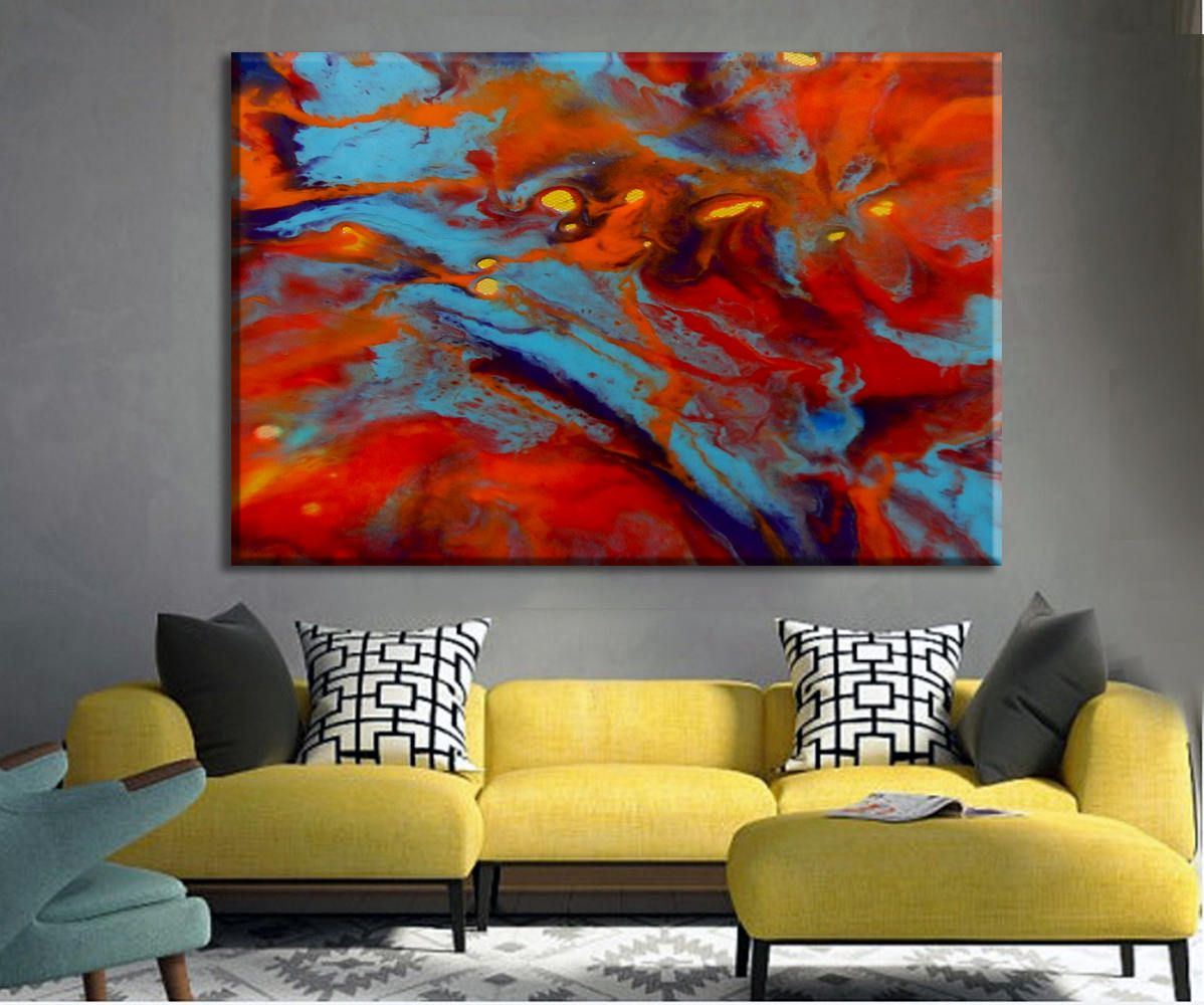 Large Living Room Paintings Oversize Art Print Colorful Art Large Canvas Print Abstract