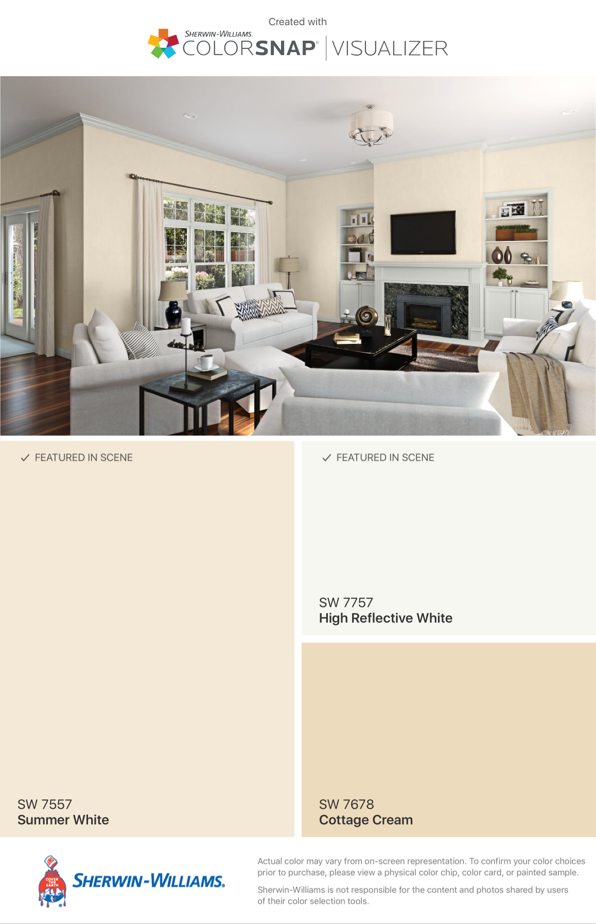 Perfect For Rentals Sherwin Williams Summer White Paint Colors