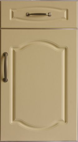 Double Cathedral Style Kitchen Door And Drawer Front In Vanilla Vinyl Finish