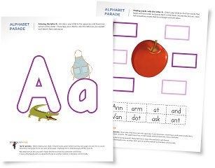 Worksheets and activity suggestions to help you introduce your child to the letter A, including how to write it and what sound it makes.