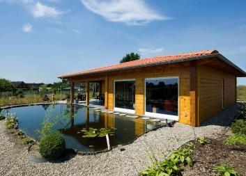 Holzhaus eingeschossig kompaktes Blockhaus Fullwood
