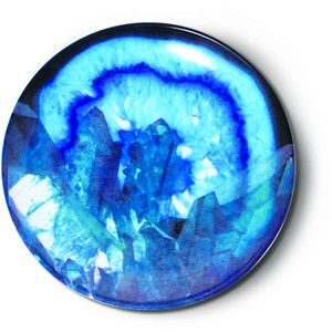 Luminous Blue Geode Ring Holder Dish design by imm Living