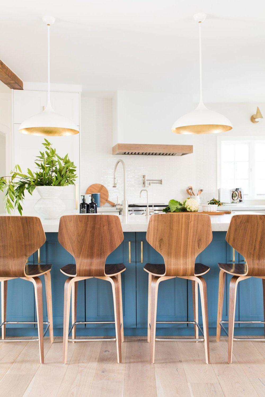 bright airy modern kitchen design inspiration blue