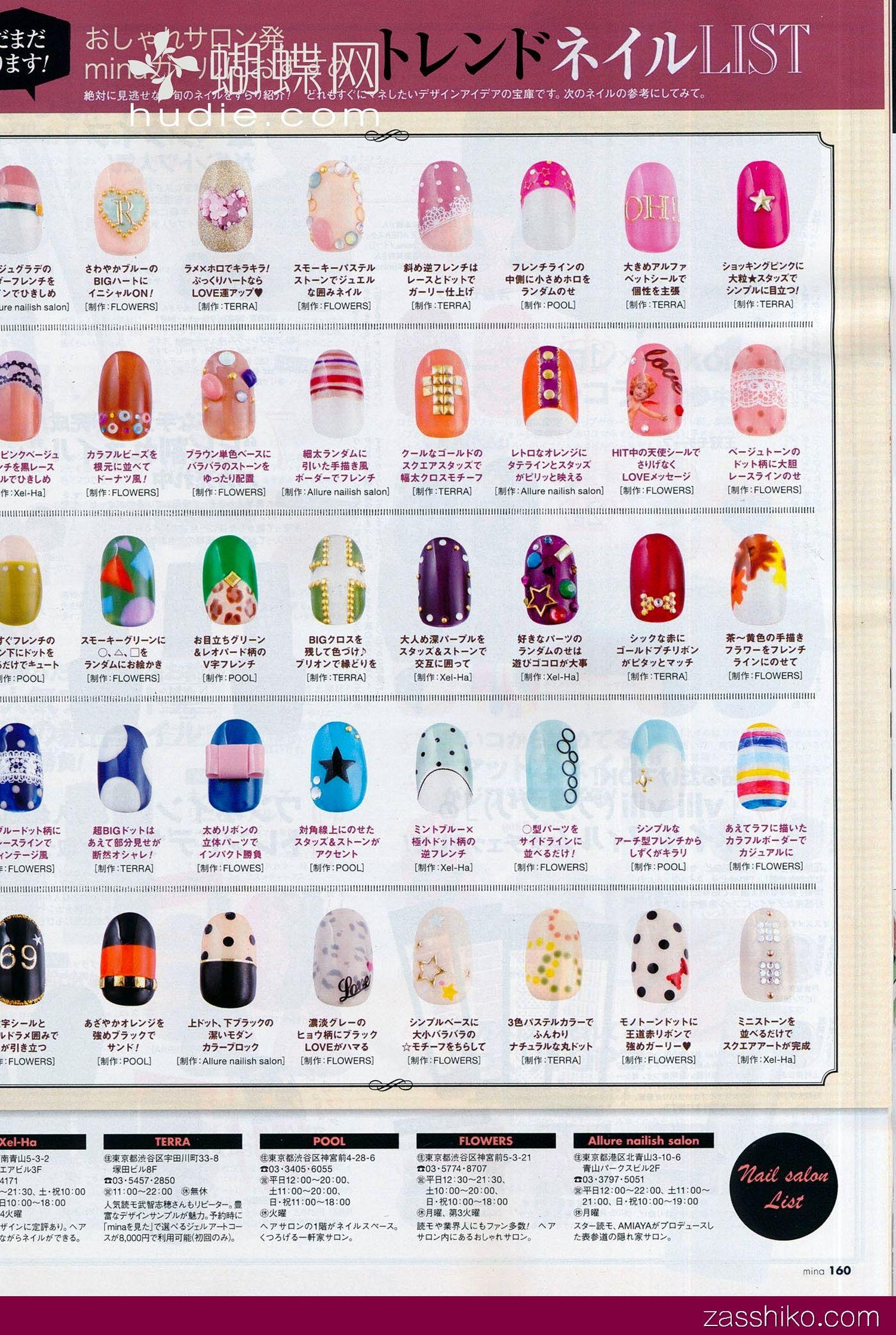 Examples of Japanese nail art Spa Life Pinterest Nail Art