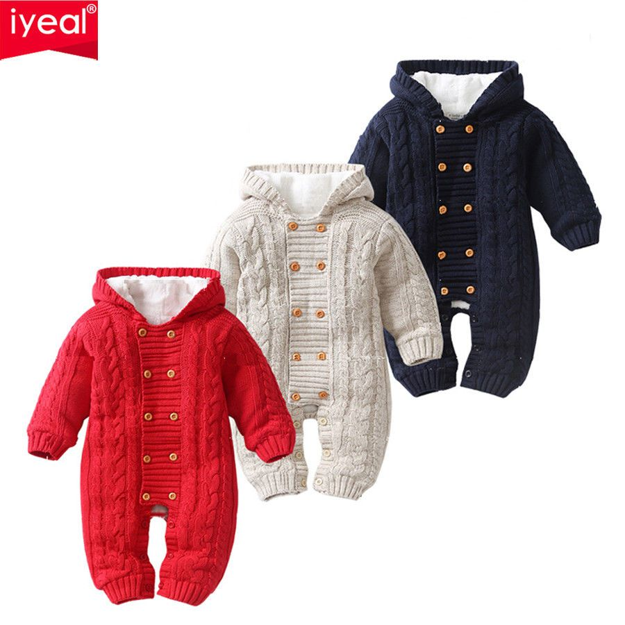 a0c9f80cb Details about Thick Warm Infant Baby Rompers Winter Clothes Newborn ...
