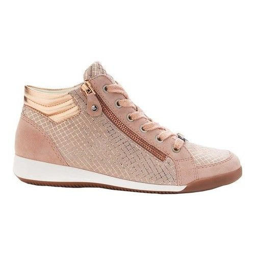 new style 05073 c8b8f Women's ara Rylee 34410 Sneaker - Puder Square Kid Leather ...