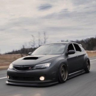 The Car That Lord Vader Would Drive If He Were A Tuner  Subaru WRX STI I  Wouldnu0027t Lower It As Much Though, That Low Life Lifestyle Is Rough