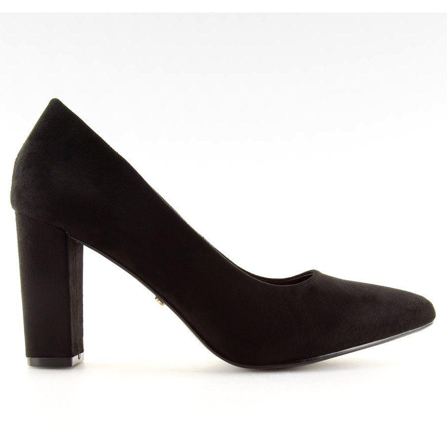 Czolenka Na Slupku Czarne Nf 27 Black Heels Boots Ankle Boot