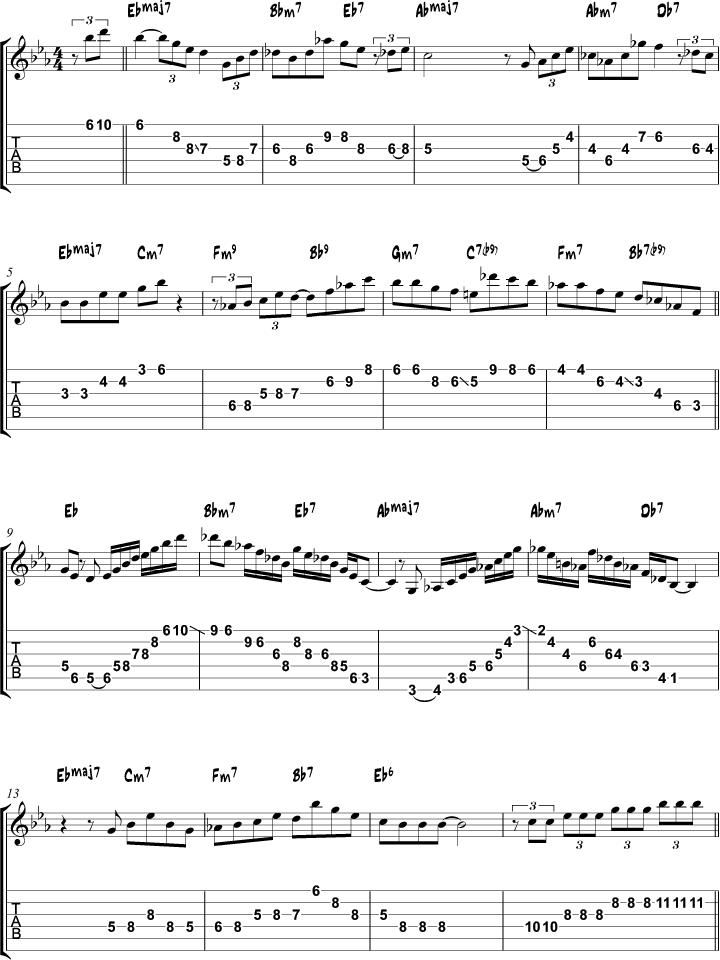 Misty Arpeggio Study Page 1 Jazz Guitar Pinterest Guitars