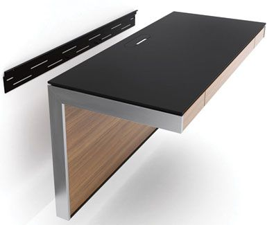 A Versatile Office Solution The Award Winning Sequel Wall Mounted Desk Can Be Positioned At Any Height Seated Standing Or Stool To Create