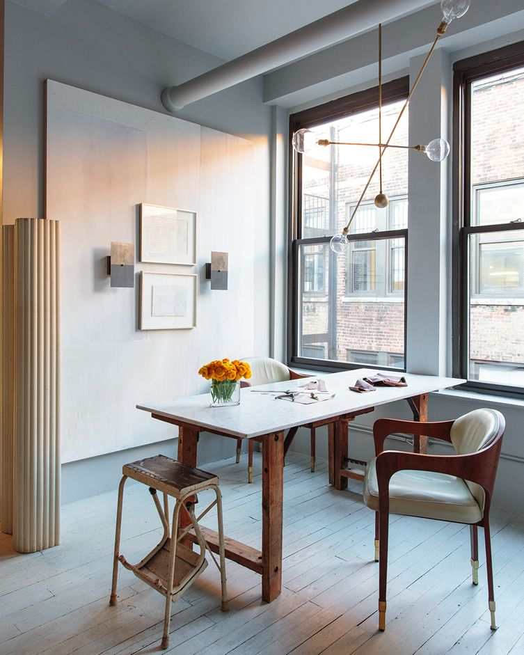 The Lights Are On And Everyone Is Home At Apparatus Manhattan Design Studio Dining Room Design Home Interior