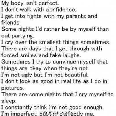 insecurity quotes | Tumblr | teen quotes  insecurity quot...