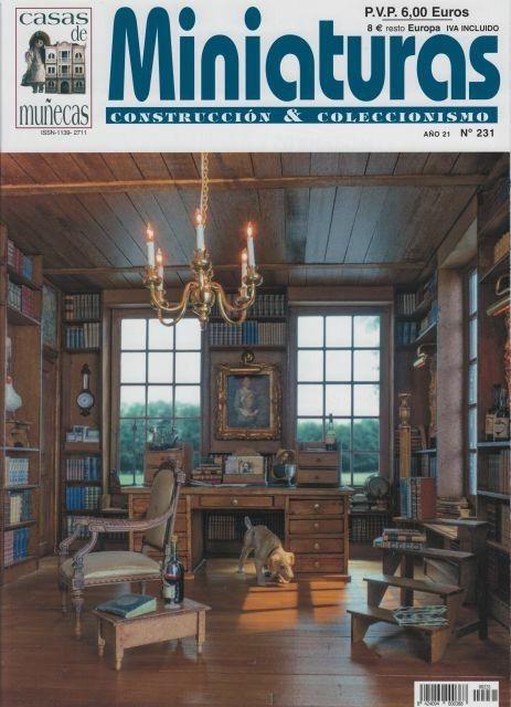231 miniaturas Portadas de revistas, Miniaturas y Casas