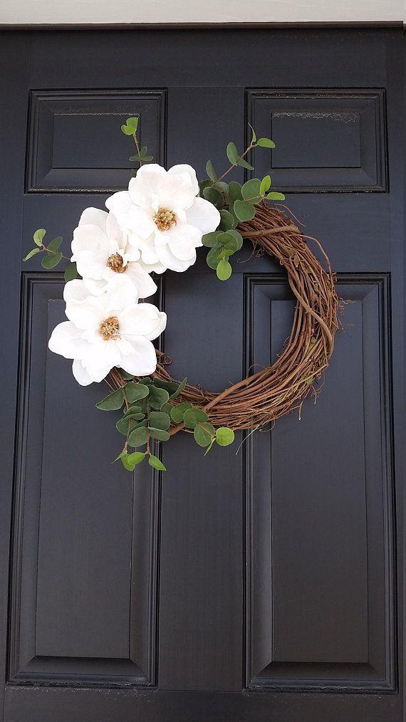 Magnolia Flower Wreath | Spring Wreath | Farmhouse