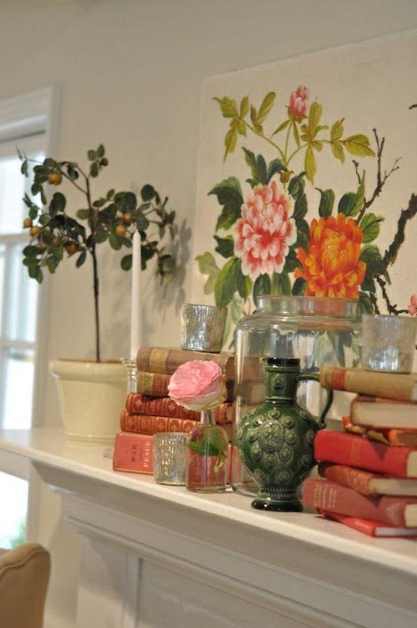 Frühlingsdekorationen Für Das Kaminsims Bunte Blumen | Kamin | Pinterest |  Kaminsims, Frühlingsdekoration Und Bunte Blumen