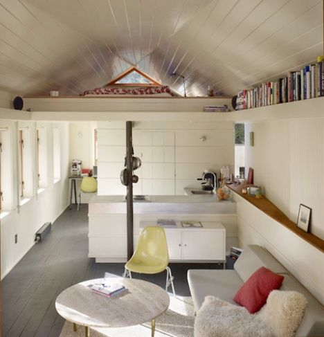 I love small spaces.  Gorgeous Garage Conversion By Shed Architects : TreeHugger