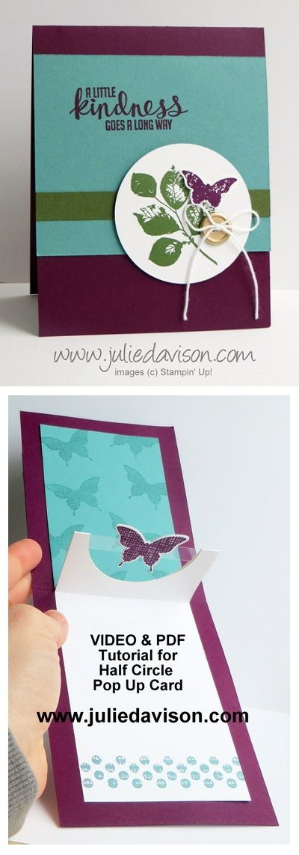 Exceptional Card Making Ideas Pdf Part - 14: Papillon Potpourri, Elegant Butterfly U0026 2 Circle Punches, Window Sheet -  Half Circle Pop Up Card Tutorial - Video U0026 PDF