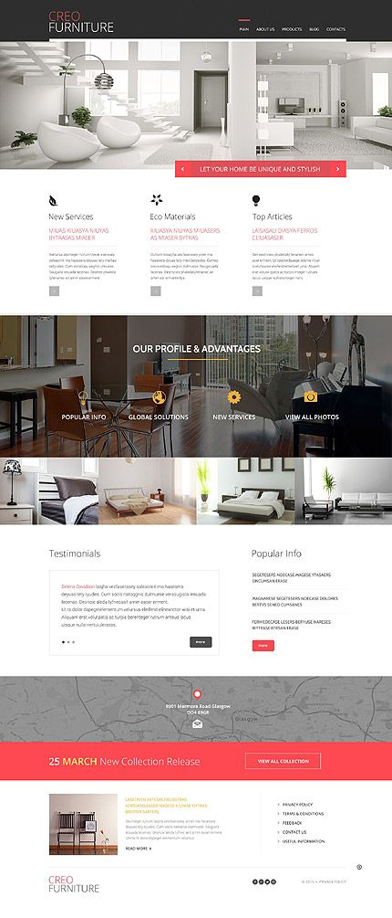 furniture responsive wordpress theme wordpress website template