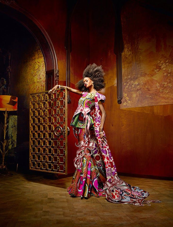 "Vlisco's New Collection – ""Splendeur"" Ankara. Dutch Wax Print."
