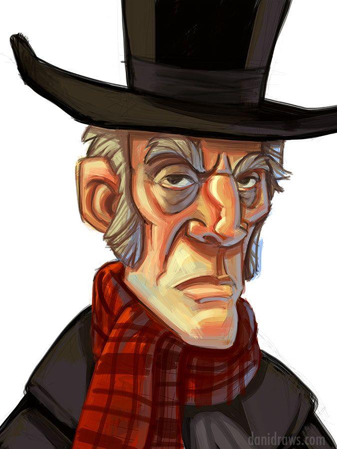 A Christmas Carol Scrooge Drawing Easy.Scrooge Ipad Painting By Dani Jones Danidraws Com