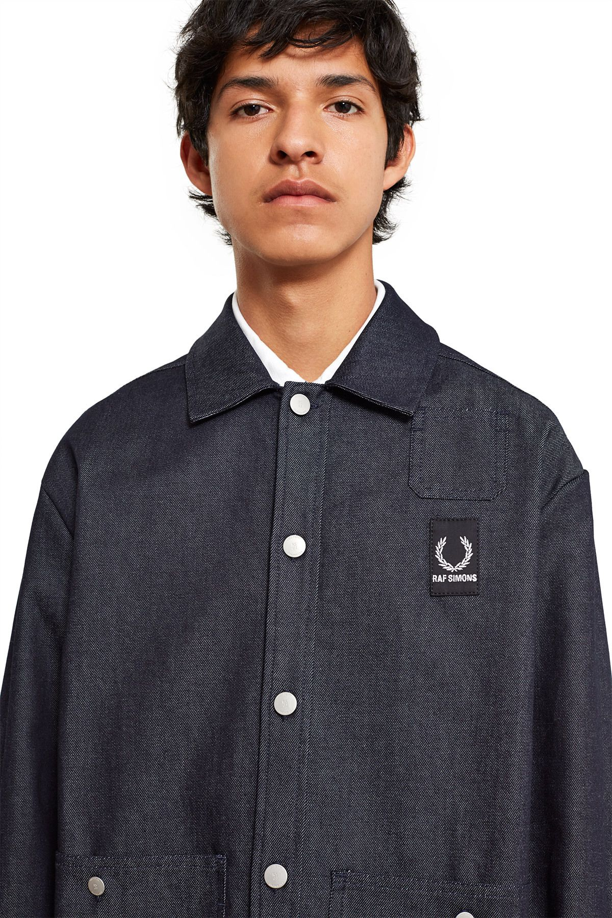 7a7dc09c Raf Simons × Fred Perry | Denim Shirt Jacket | Opening Ceremony ...
