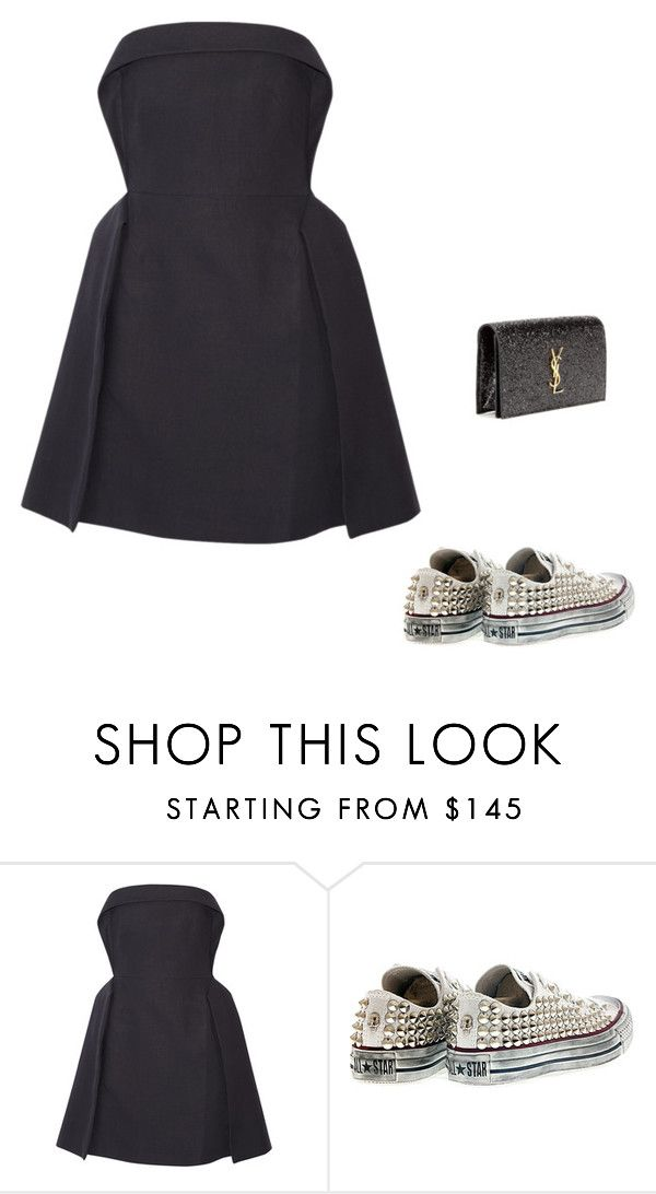 """Без названия #1590"" by newyorkstylrer ❤ liked on Polyvore featuring Delpozo, Converse and Yves Saint Laurent"