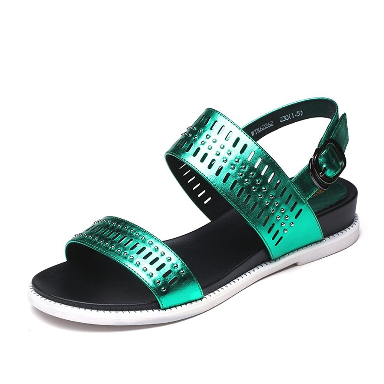 Sandals shoes comfortable - Summer Personality Rivet Hollow Breathable Shoes Comfortable Casual Flat Sandals Click Image
