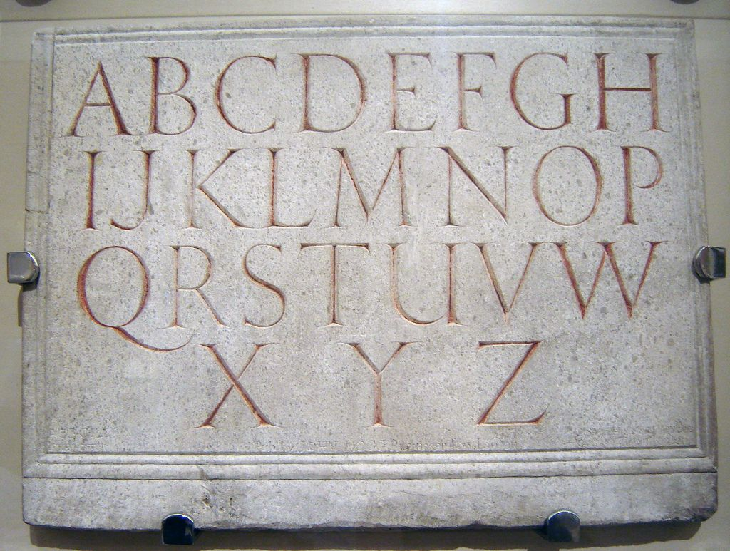 Eric Gill alphabet (1909) by Jo De Baerdemaeker, London, June 2008