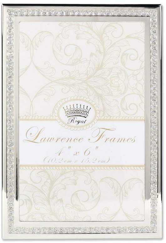 d852f325d83 Lawrence Frames Dazzle Silver and Glitter Picture Frame - 4 x 6