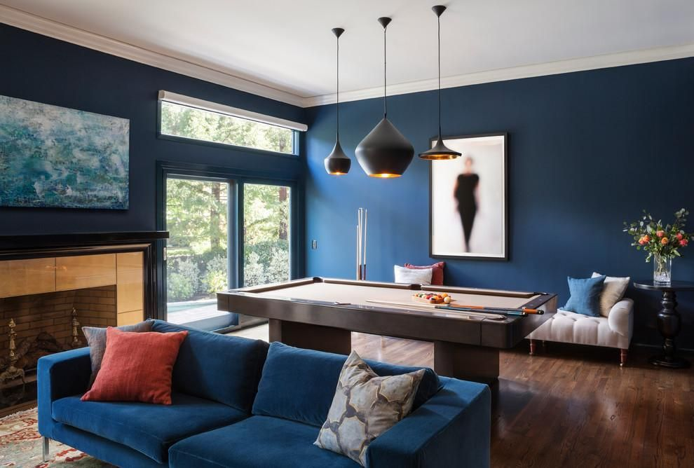 living room in blue%0A Modern  u     Eclectic Living Room by Melinamade Interiors with tom dixon Beat  Light