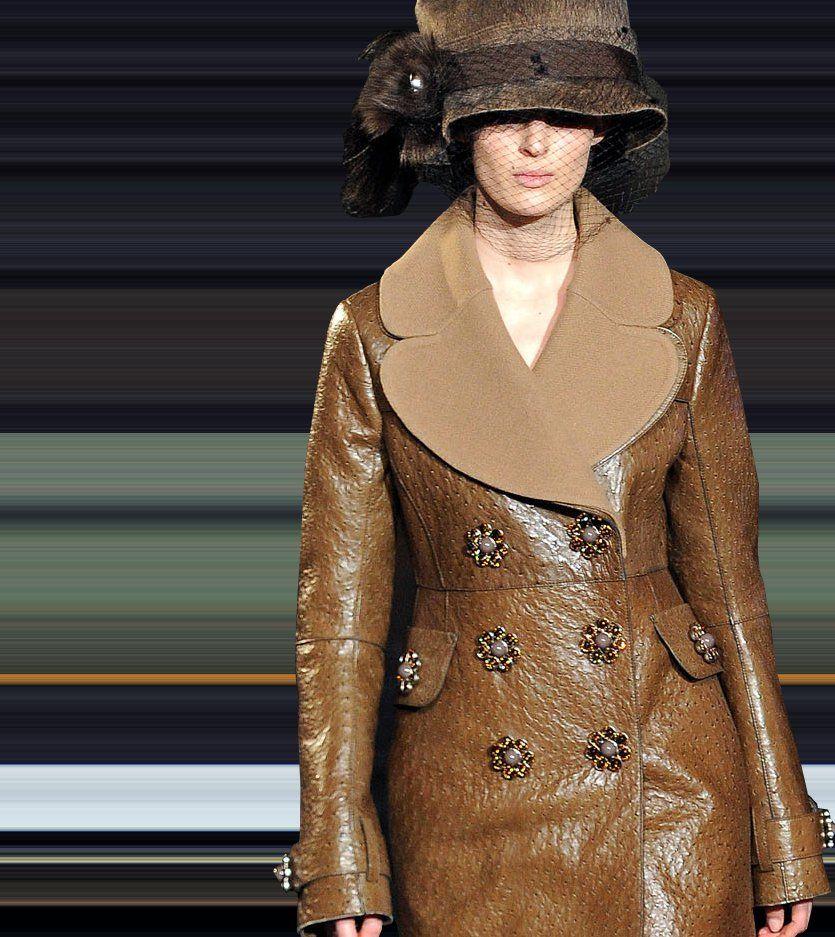 Fashion & Lifestyle Louis Vuitton Leather Coats Fall 2012