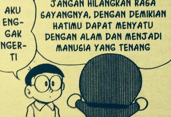 Doraemon Jg Bilang Gitu Coba Deh Nobita Kamu Jatuh Cinta Pasti Lebih Mengerti Doraemon Quotes Yang