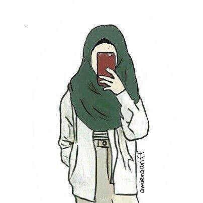 First Time Doodling Doodle Muslimah Mood Hijab Cartoon Hijab