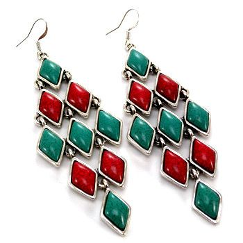 Vintage Old Store Stock Coral and Turquoise by TheBigRedBox, $8.99