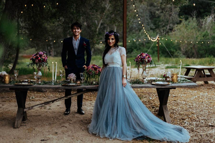 Baby Animals And A Blue Gown Are Just The Beginning Of This Gorgeous Rustic Wedding Inspiration Shoot Junebug Weddings