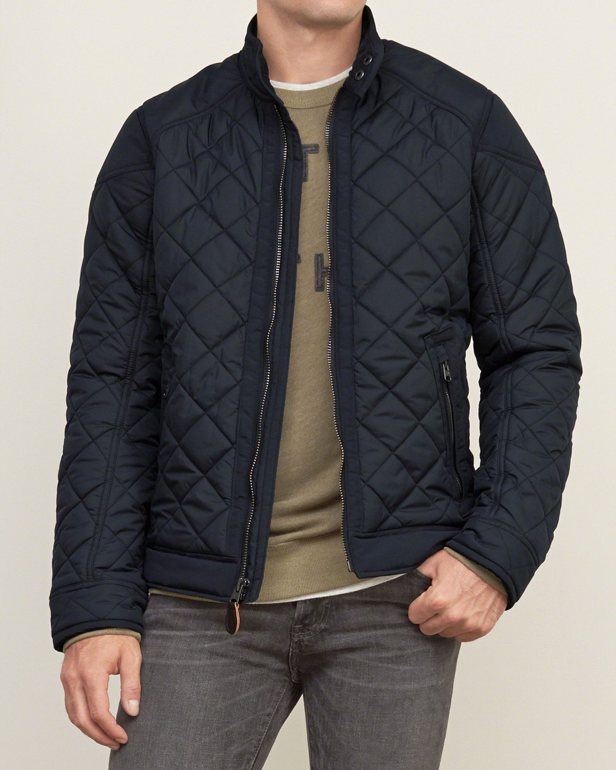 Quilted Bomber Jacket Mens Outerwear Jacket Quilted Jacket Men Quilted Bomber Jacket