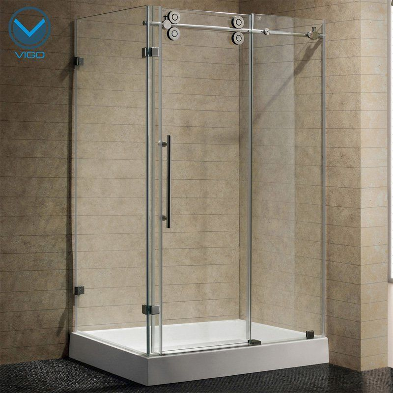 Vigo Vg605148w 38 125w X 79 875h In Clear Glass Shower Enclosure