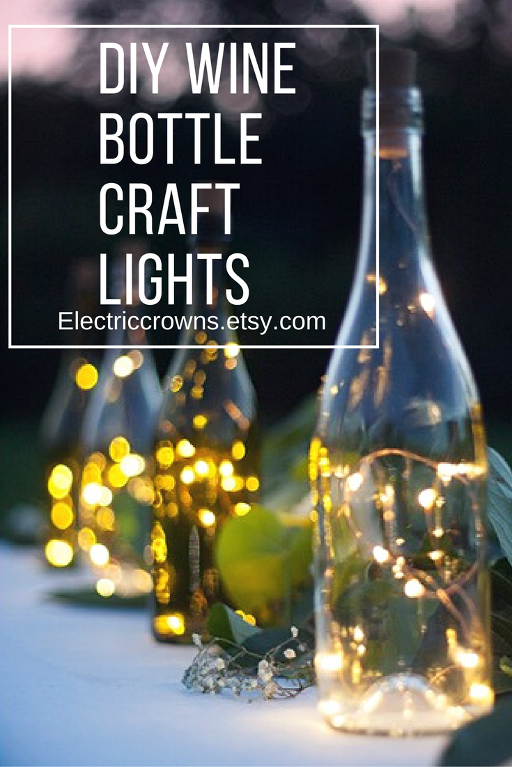 Wine Bottle Decoration With Lights Diy Wine Bottle Craft Lightsbattery Is In The Cork Stopperno