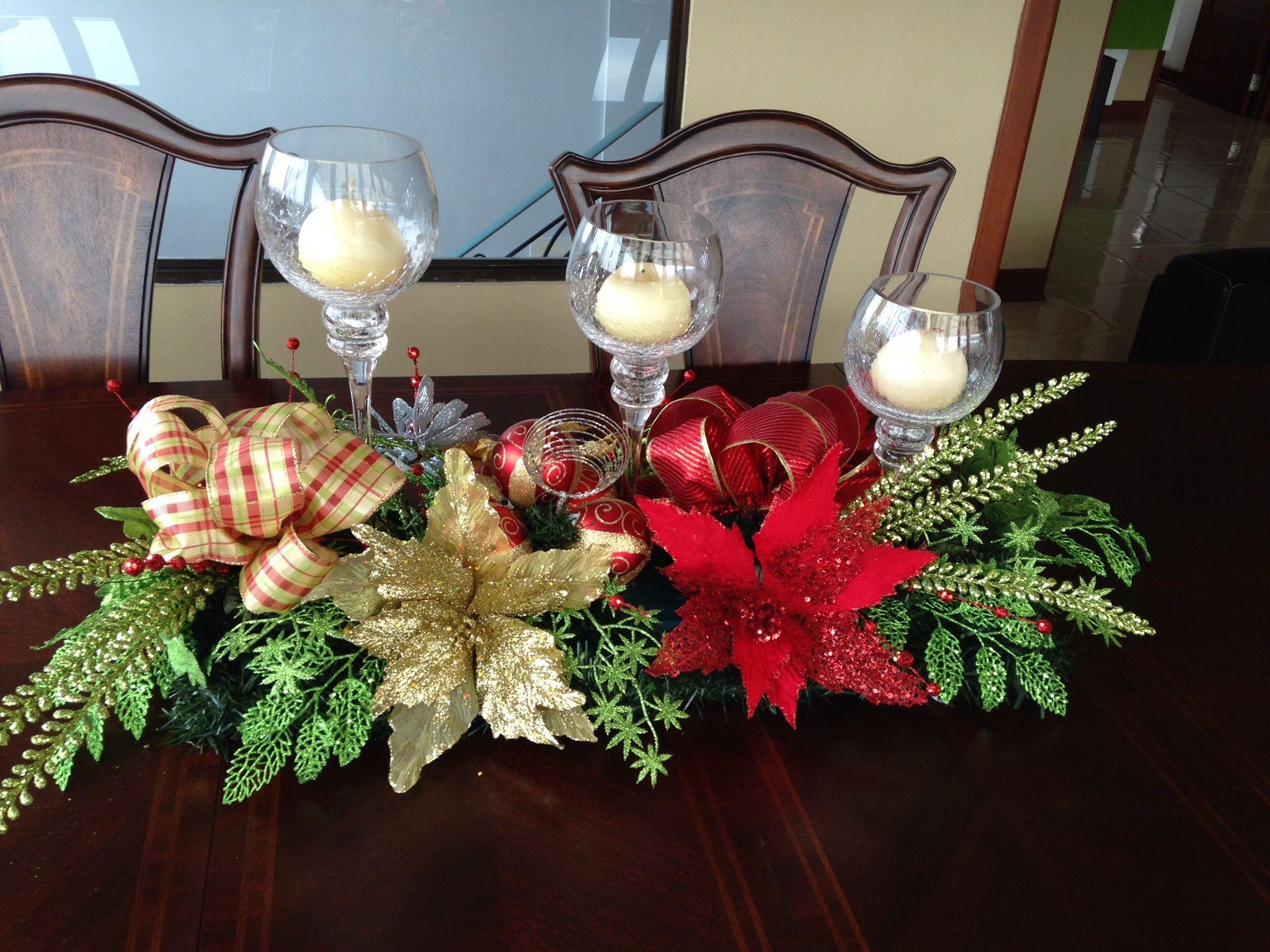 Centro mesa comedor navidad pinterest comedores - Arreglos navidenos para mesa ...